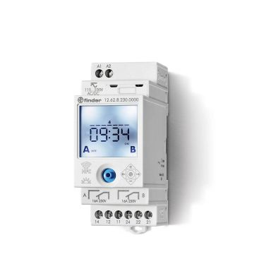 Finder 126282300000 Koblingsur 16A, 110…230VAC/DC