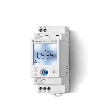 Finder 12A182300000 Koblingsur 16A, 110…230VAC/DC