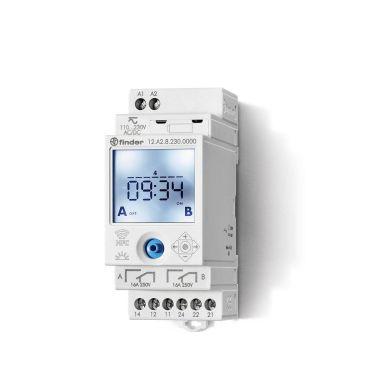 Finder 12A282300000 Koblingsur 16A, 110…230VAC/DC