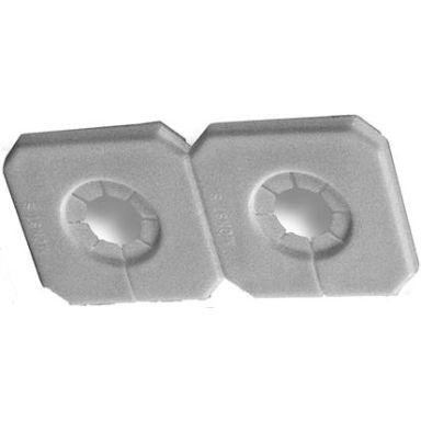 Purus Duo-Täck Täckbricka för dubbla rör, delbar, vit