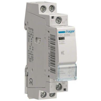 Hager ESD225S Kontaktor 2-polet, 25 A, 24 V AC