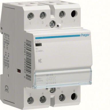 Hager ESC263S Kontaktori 63A, 230VAC