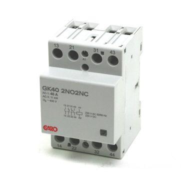 Garo GK40 230V ACDC Kontaktor 40 A, 4 slutande kontaktorer