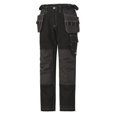 H/H Workwear Chelsea Cotton Cons Midjebyxa svart/grå