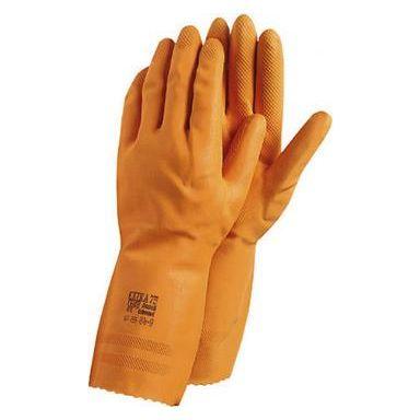 Ansell Extra Handske Kemskydd, Latex, orange