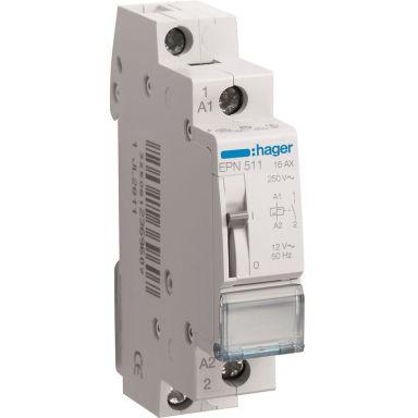 Hager EPN511 Impulsrelä 1 slutande kontakt, 12V