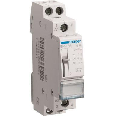 Hager EPN521 Impulsrelä 2 slutande kontakter, 12V