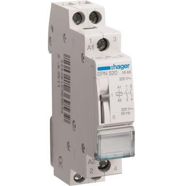 Hager EPN520 Impulssirele 2 sulkeutuvaa kosketinta, 230 V
