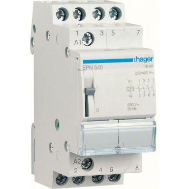 Hager EPN540 Impulsrelä 4 slutande kontakter, 230V