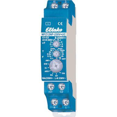 Eltako MFZ12NP-230V+UC Tidsrelé 16A, 8-230 V, 10 funksjoner