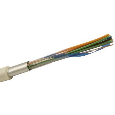 Nexans ELAQBY Telekabel hvit, 2x2x0,6 mm