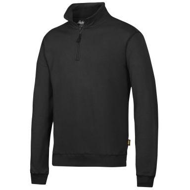 Snickers 2818 Sweatshirt svart, med kort dragkedja