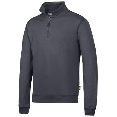 Snickers 2818 Sweatshirt grå, med kort dragkedja