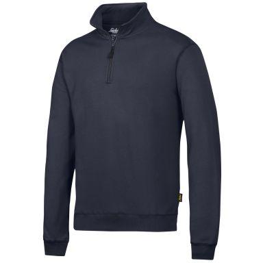 Snickers 2818 Sweatshirt marinblå, med kort dragkedja