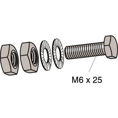 MP bolagen 859E Jordbultsats M6 x 25 mm
