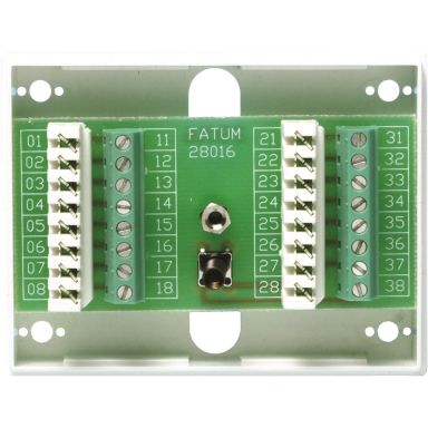 Alarmtech Fatum Mini Larmbox 16-polig, med sabotagekontakt