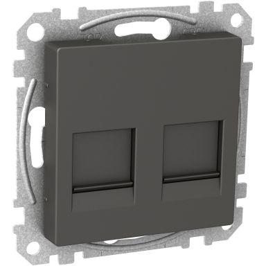 Schneider Electric WDE003378 Midtplate 2x Keystone-jack