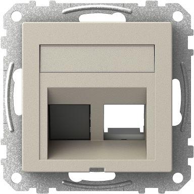 Schneider Electric Exxact Midtplate 73 x 72 x 27 mm, vinklet