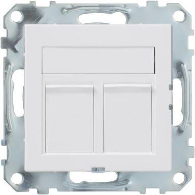 Schneider Electric Exxact 2xC6 UTP Modularuttag 2 kopplingar