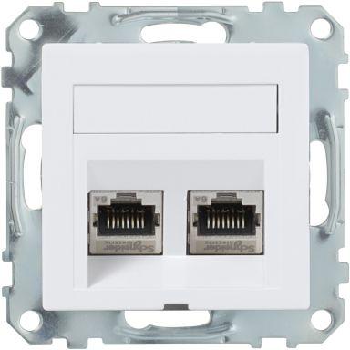 Schneider Electric WDE002440 Modulæruttak sentral dekkplate, hellende