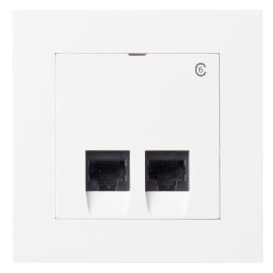 Elko Plus Modulæruttak innfelt, 2 x 8 K6