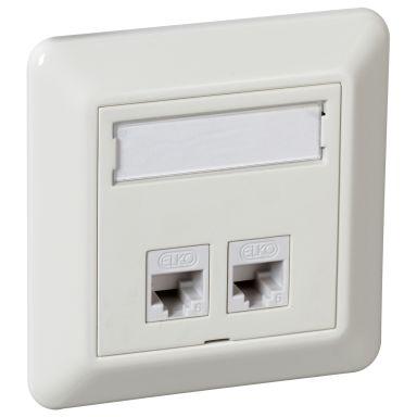 Elko UTP C6 TL Modulæruttak innfelt, hvit