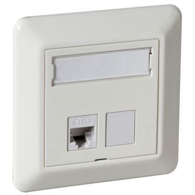 Elko EKO02540 Modulæruttak rett, hvit