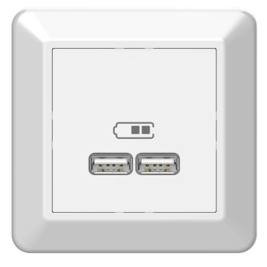 Elko EKO05982 Ladduttag USB 2.1A, vit