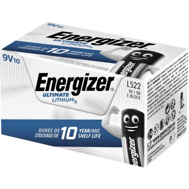 Energizer Ultimate Lithium L522 Litiumbatteri 9 V, 10-pack