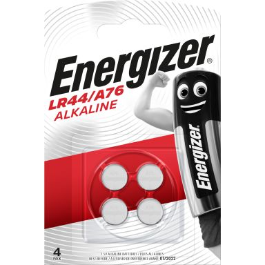 Energizer LR44/A76 Knappcellsbatteri alkaliska, 1,5 V, 4-pack