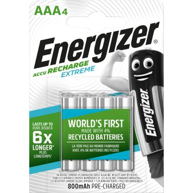 Energizer Recharge Extreme Laddbart batteri 1,5 V, 4-pack, AAA