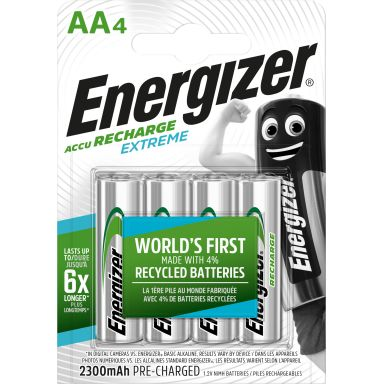 Energizer Recharge Extreme Laddbart batteri AA, 1,5 V, 4-pack
