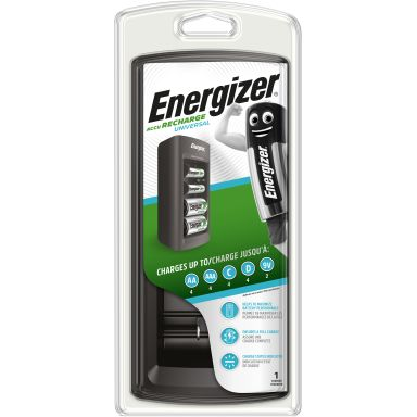 Energizer Recharge UNIVERSAL Batteriladdare AA, AAA, C, D och 9 V