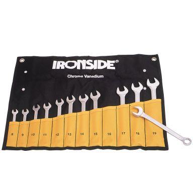 Ironside 112301 Blokknøkkelsett 12 deler, 8–19 mm, i veske