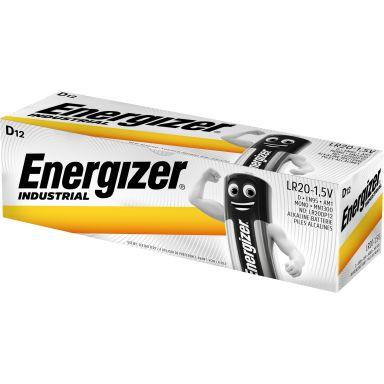 Energizer Industrial D/LR20 Alkaliskt batteri 12-pack
