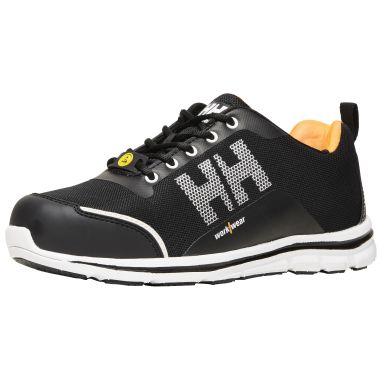 H/H Workwear Oslo Skyddssko S1P, svart/orange, låg, aluminiumhätta