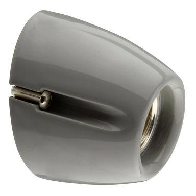 Ifö Electric Basic Porslinsarmatur grå, sned sockel