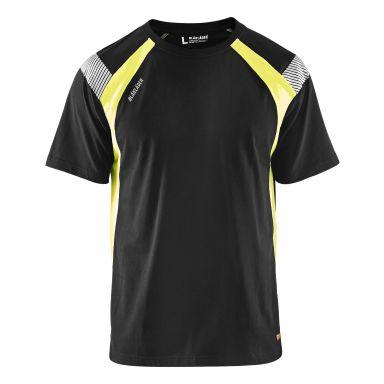Blåkläder 3332103099334XL T-shirt svart/varselgul