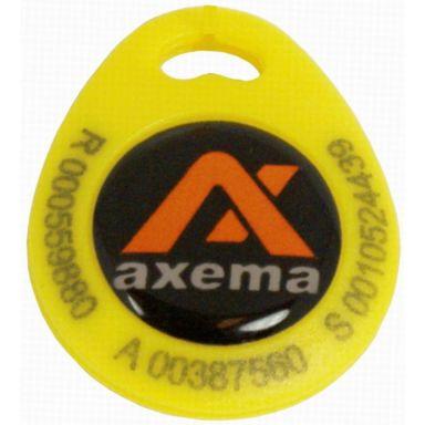 Axema PR-4 Nyckelbricka gul, lasergraverad ID-kod