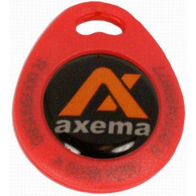Axema PR-4 Nyckelbricka röd, lasergraverad ID-kod