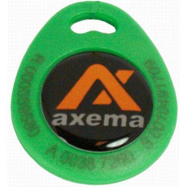 Axema PR-4 Nyckelbricka grön, lasergraverad ID-kod