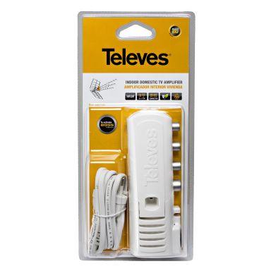 Televes 545720 Förstärkare 20 dB förstärkning, LTE-filter