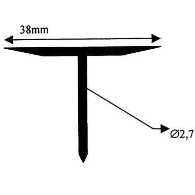Climatech CDF Svetsspik Bredd: 2,7 mm, 1000-pack