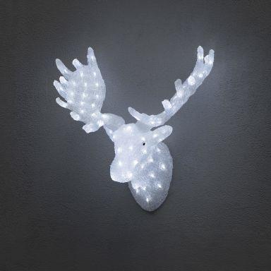 Konstsmide 6265-203 Älghuvud akryl, LED, 65 cm, 24V/IP44