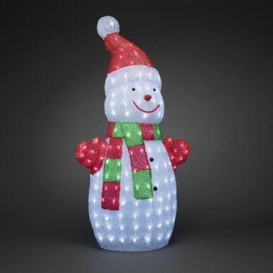Konstsmide 6285-203 Dekorationsbelysning snögubbe, 90 cm