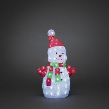 Konstsmide 6297-203 Dekorationsbelysning snögubbe, 50 cm