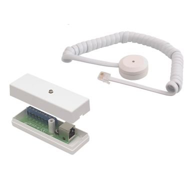 Alarmtech GD 335-SJ Glassknusedetektor med spiralkabel, tilkoblingsboks