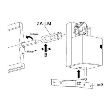 Belimo ZA-LM Spjällaxelförlängare för LMA spjällmotorer