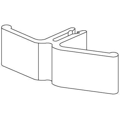Schneider Electric 5401615 Kabelhållare 42 mm, plast, 10-pack