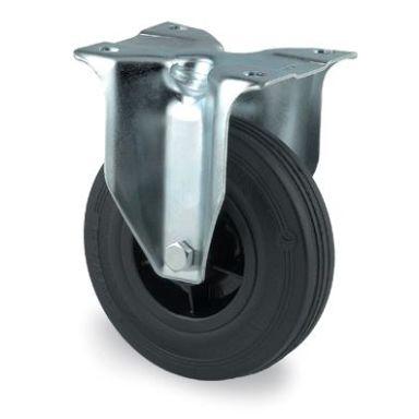 Tente 3478PRR160P63 Industrihjul fast hjul, gummi, platta 137x105 mm